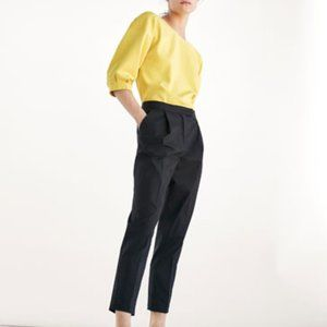 Massimo Dutti Black Darted Trouser Pants NWT, 10